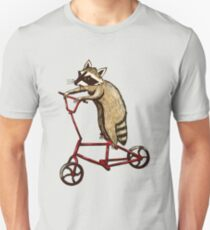 Bicycle Riding Raccoon  Unisex T-Shirt
