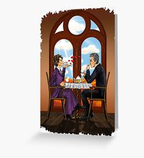 Tea with cookies. Missy & Doctor Greeting Card