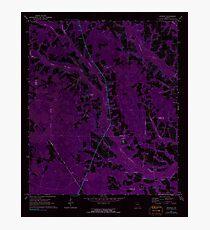 USGS TOPO Map Georgia GA Crawley 245440 1971 24000 Inverted Photographic Print