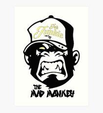 Ink Junkie - Tattoo Art - Monkey Cartoon Art Print