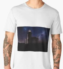 Lighthouse at Night Men's Premium T-Shirt