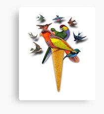 BIRDS ICE CREAM Canvas Print