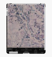 USGS TOPO Map Georgia GA Crawley 20110310 TM Inverted iPad Case/Skin