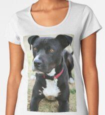 Handsome Black and White Dog Women's Premium T-Shirt