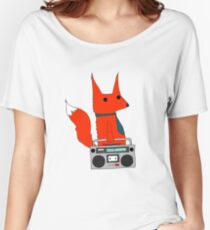 music fox Women's Relaxed Fit T-Shirt