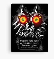 Majoras Mask - Meeting With a Terrible Fate Canvas Print