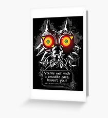 Majoras Mask - Meeting With a Terrible Fate Greeting Card