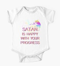 Satan is happy with your progress One Piece - Short Sleeve