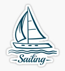 Sailing Badge With Sailboat Sticker