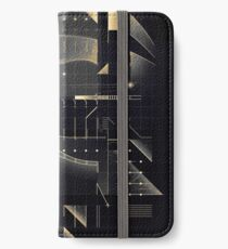 Composition of golden abstract geometry #2 iPhone Wallet