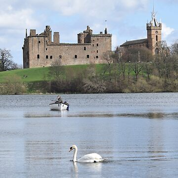 Linlithgow Loch and Palace , Scotland by goldyart