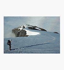 Climber on French Ridge, Mt Aspiring NP, New Zealand Photographic Print