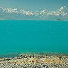 New Zealand Southern Alps and Lake Pukaki by Hugh Chaffey-Millar