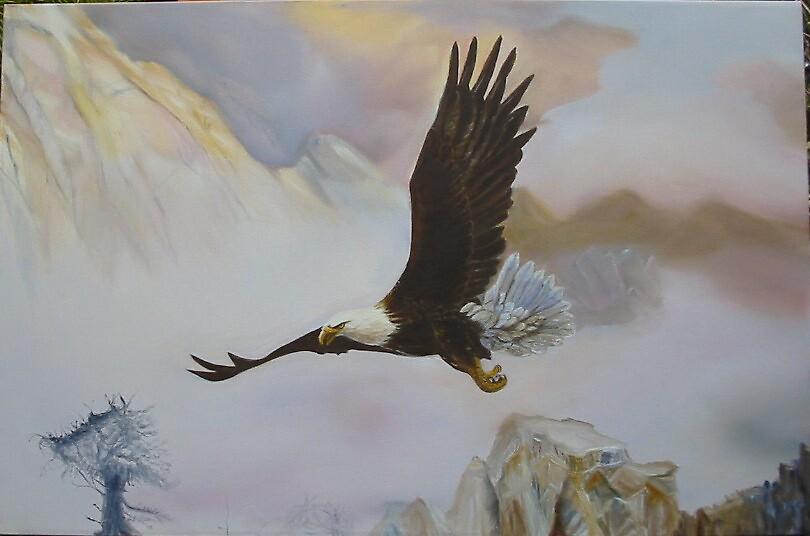 Eagle Rocky Mountain by gunnelau