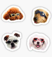 Pegatina Pegatinas Doggo: Gafas De Sol # 1