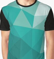 Turquoise traingle pattern Graphic T-Shirt