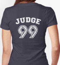 Judge 99 , Judgement Day is coming Navy Blue Shirt New york Baseball - I'm a Big Fan !  Women's Fitted T-Shirt
