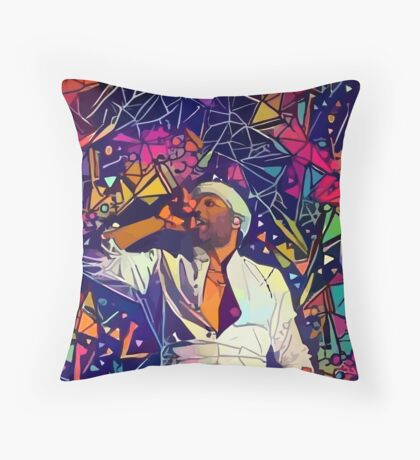 Abstract Gambino Throw Pillow