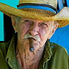 Old man with cigar- Vinales, Cuba by David Chesluk