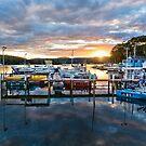 Sunset at Narooma Marina by Stuart Row