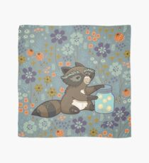 Funny little raccoon collects crickets Scarf