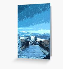 Rage of the Winter Greeting Card