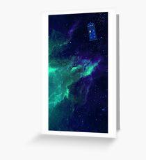 TARDIS flying through space Greeting Card