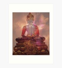 "... and Buddha said  ""I am well pleased - not that that matters"" Art Print"