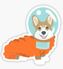 Corgi outer space astronaut cute dog gifts for welsh corgi lovers Sticker