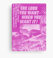 "Vintage Pink ""The Look You Want"" from original mixed media collage Canvas Print"