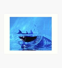 Dolphin in a small world Art Print