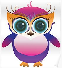 Cute lil baby owl Poster