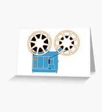Super 8 Movie Projector Greeting Card