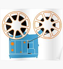 Super 8 Movie Projector Poster