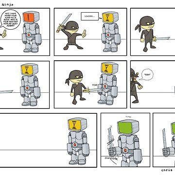 Robot vs Ninja 1 by ChrisRabbit