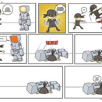Robot vs Ninja 2 by ChrisRabbit