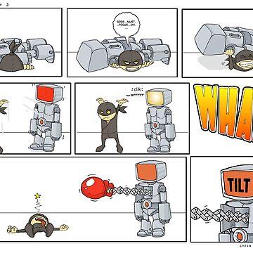 Robot vs Ninja 3 by ChrisRabbit