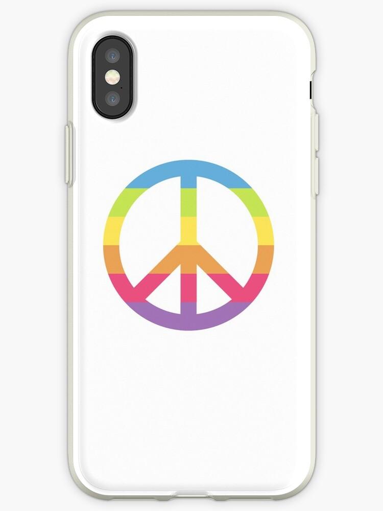 'Rainbow Peace Sign Symbol Logo Gay Pride Equallity' iPhone Case by  stevesemojis