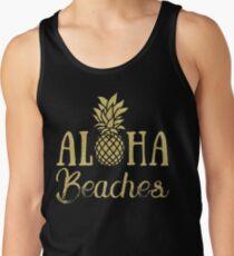 Aloha Beaches Pineapple Hawaii T-Shirt Tank Top