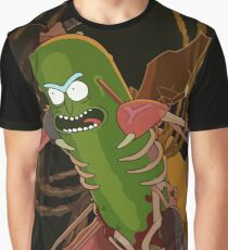 Pickle Rick - Rick and Morty Rat Fighting Design Graphic T-Shirt