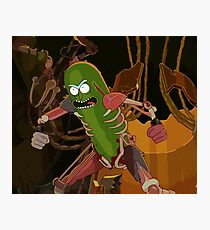 Pickle Rick - Rick and Morty Rat Fighting Design Photographic Print