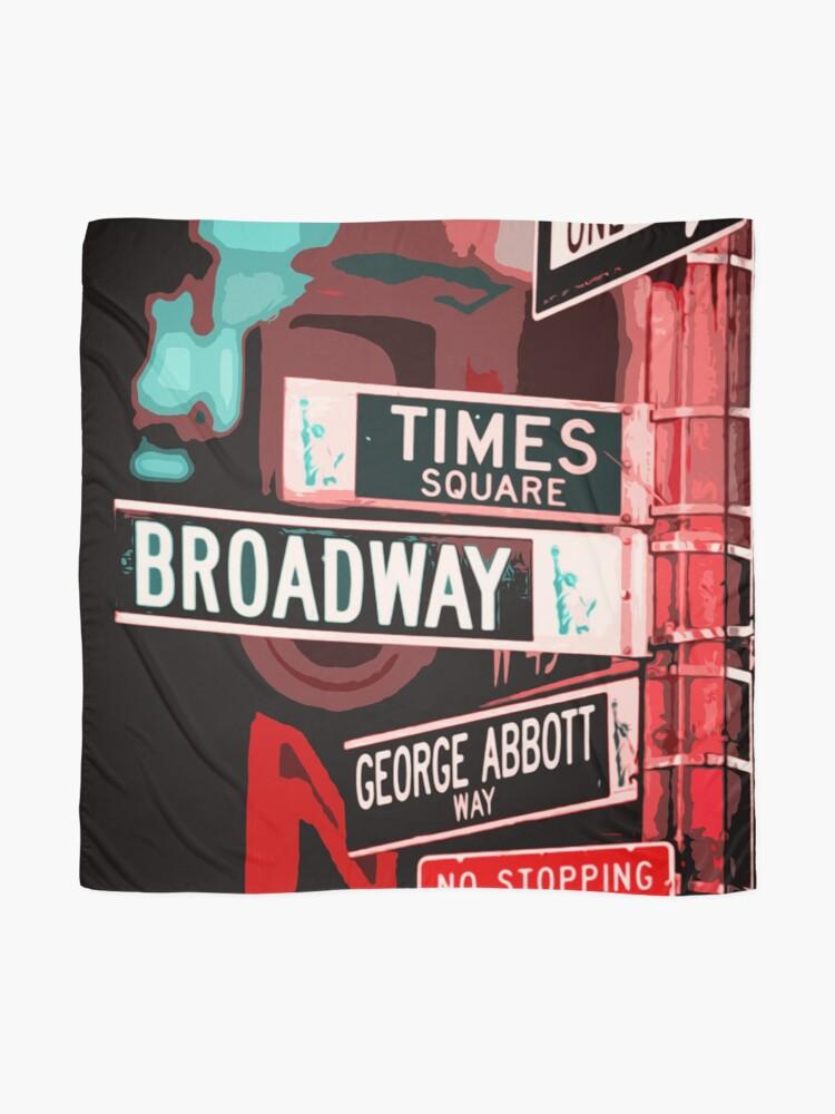 Alternative Ansicht von Broadway-Straße - New York City Tuch