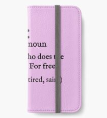 Mother Dictionary Definition iPhone Wallet/Case/Skin