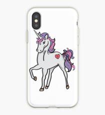 Einhorn-Herz-Fantasie-nettes rosa Purpur iPhone-Hülle & Cover
