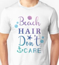 Beach Hair Don't Care Holiday Ombre T-Shirt
