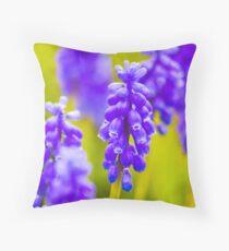 Grape Hyacynth Throw Pillow