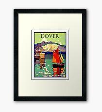 Dover, England, boats, vintage travel poster Framed Print