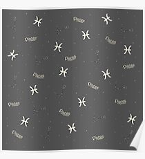 Pisces Pattern Poster