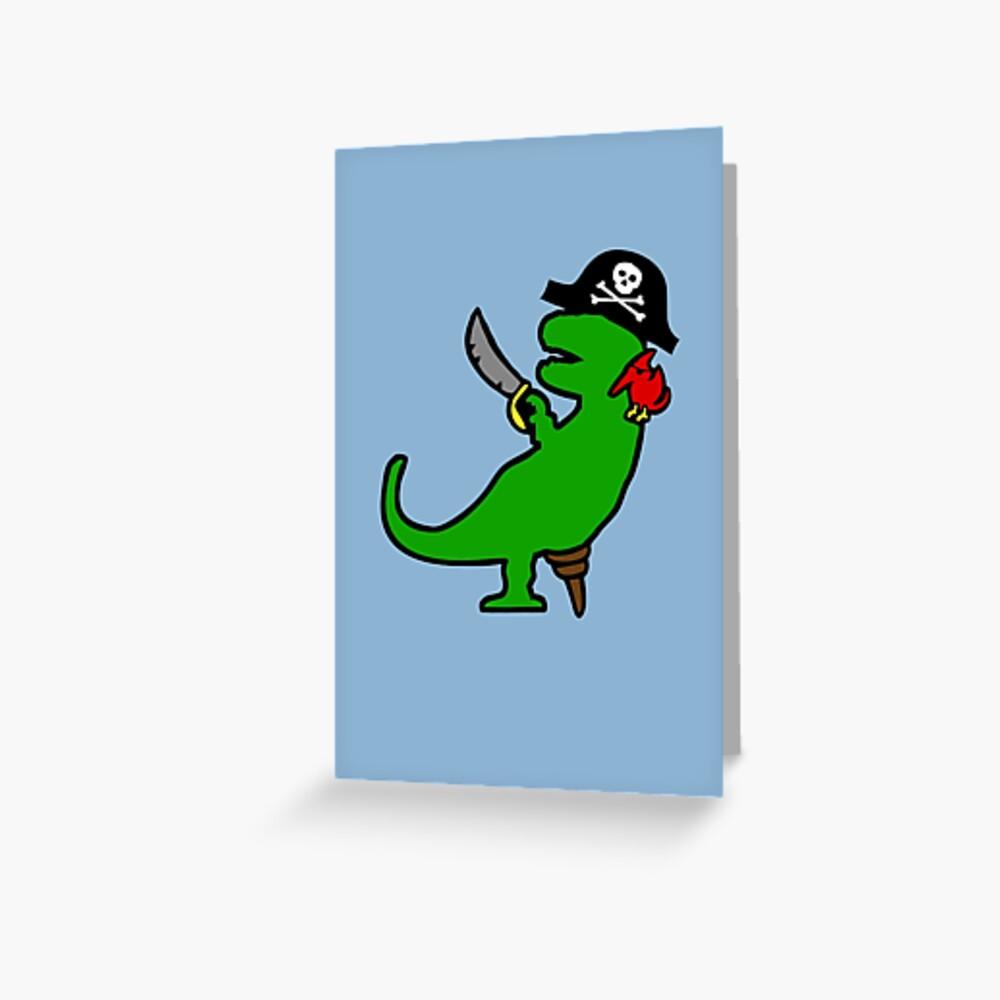Dinosaurio Pirata - T-Rex Tarjetas de felicitación