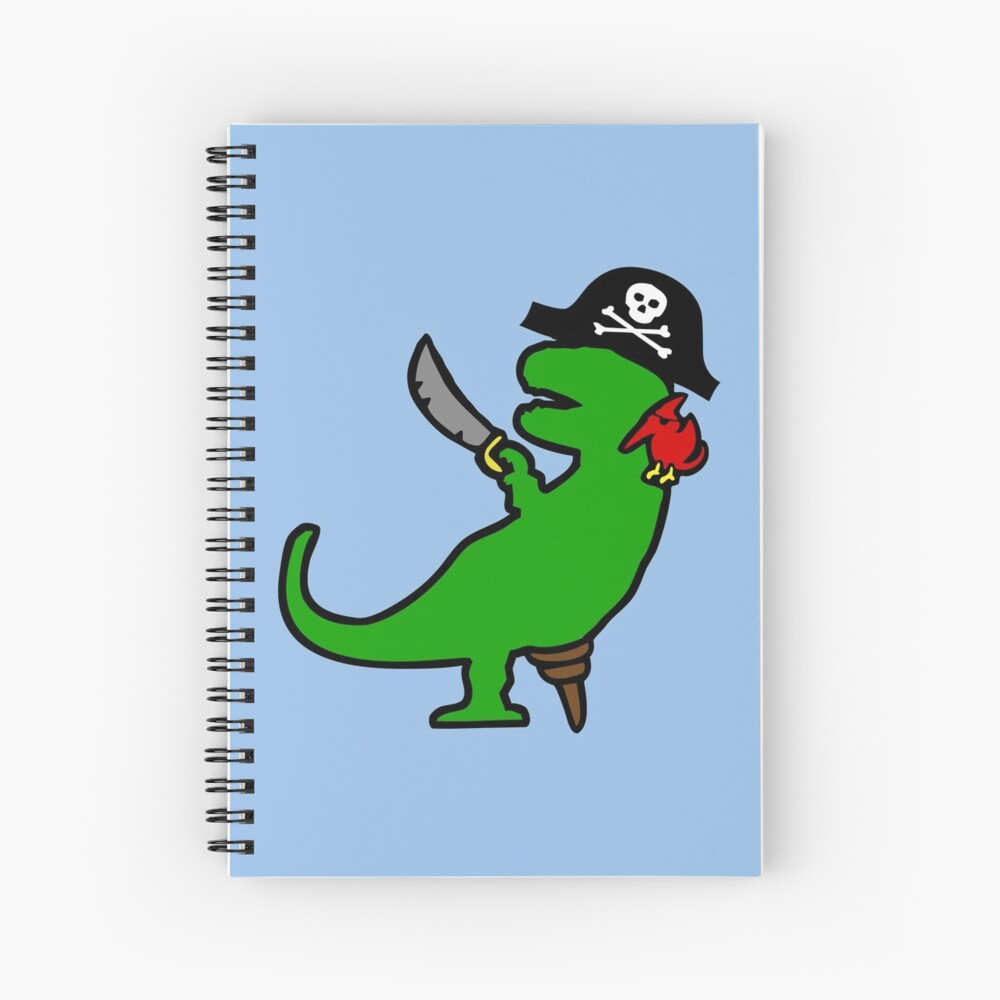 Dinosaurio Pirata - T-Rex Cuaderno de espiral